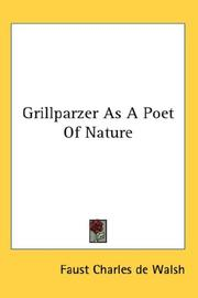 Grillparzer As A Poet Of Nature PDF