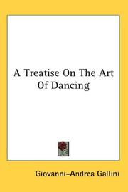 A treatise on the art of dancing by Giovanni-Andrea Gallini