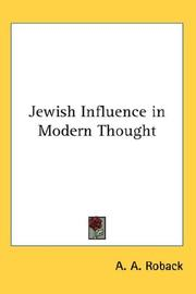 Jewish Influence in Modern Thought PDF