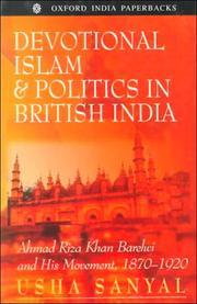 Devotional Islam and Politics in British India PDF
