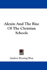 Alcuin And The Rise Of The Christian Schools PDF