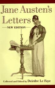 Jane Austen&#39;s letters to her sister Cassandra and others by Jane Austen