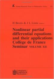 Nonlinear Partial Differential Equations and Their Applications by H. Brezis