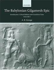 The Babylonian Gilgamesh epic by A. R. George
