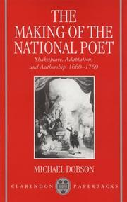 The making of the national poet by Michael Dobson
