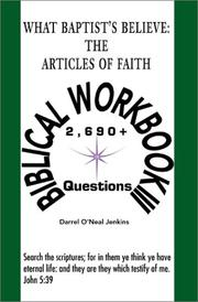 What Baptist's Believe: The Articles of Faith: Biblical Workbook III PDF