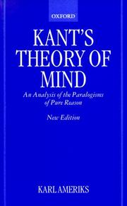 Kant's theory of mind PDF