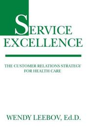Service excellence by Wendy Leebov