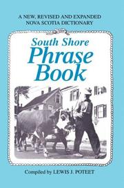 South Shore Phrase Book by Lewis J. Poteet