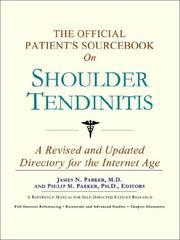The Official Patient's Sourcebook on Shoulder Tendinitis PDF