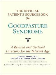The Official Patient's Sourcebook on Goodpasture Syndrome PDF