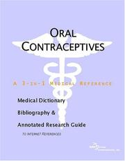 Oral Contraceptives - A Medical Dictionary, Bibliography, and Annotated Research Guide to Internet References PDF