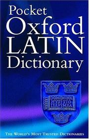 Pocket Oxford Latin Dictionary PDF