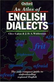 An atlas of English dialects by Clive Upton