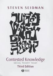 Contested knowledge by Steven Seidman