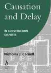 Causation And Delay In Construction Disputes PDF