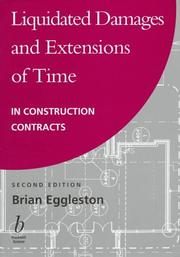 Liquidated damages and extensions of time in construction contracts PDF