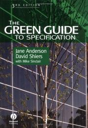 The green guide to specification by Anderson, Jane B.A., MSc.
