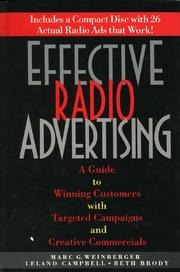 Effective radio advertising by Marc G. Weinberger