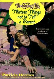 Thirteen Things Not to Tell a Parent (Cousins Club 3): Thirteen Things Not to Tell a Parent (Cousins Club) PDF