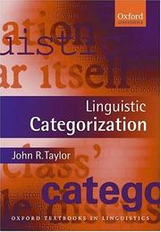 Linguistic categorization by Taylor, John R.
