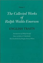Cover of: English traits by Ralph Waldo Emerson