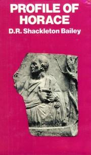 Profile of Horace by D. R. Shackleton Bailey