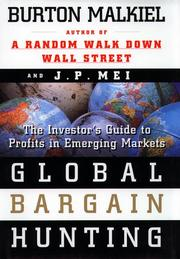 Cover of: Global bargain hunting by Burton Gordon Malkiel