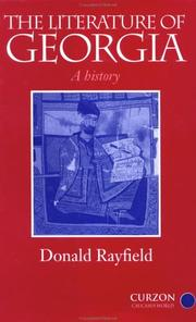 The literature of Georgia by Donald Rayfield