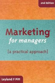 Marketing for managers PDF