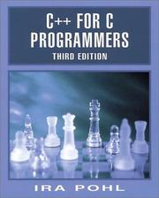 Cover of: C++ for C programmers by Ira Pohl