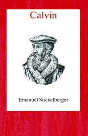 Cover of: Calvin by Emanuel Stickelberger