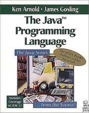 The Java programming language by Arnold, Ken