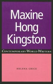 Maxine Hong Kingston (Contemporary World Writers) PDF