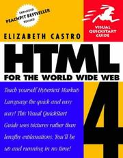 HTML 4 for the World Wide Web by Elizabeth Castro