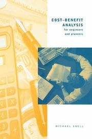 Cost-benefit analysis for engineers and planners PDF