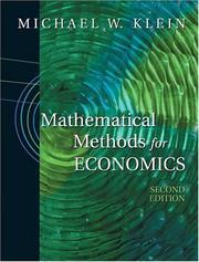 Mathematical Methods for Economics PDF