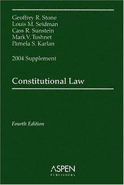 Constitutional Law by Mark V. Tushnet