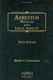 Asbestos by Barry I. Castleman