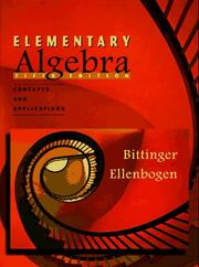Cover of: Elementary Algebra by Marvin L. Bittinger, David J. Ellenbogen