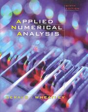 Applied numerical analysis by Curtis F. Gerald