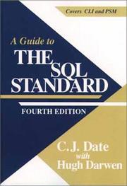 A guide to the SQL standard by C. J. Date
