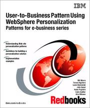 User-To-Business Pattern Using Websphere Personalization Patterns for E-Business Series PDF