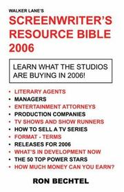 Screenwriter's Resource Bible PDF