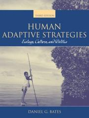 Human adaptive strategies by Daniel G. Bates