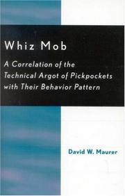 Whiz mob by David W. Maurer