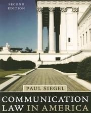 Communication law in America by Paul Siegel