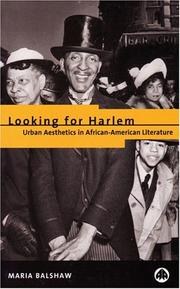 Looking for Harlem by Maria Balshaw