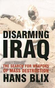 Cover of: Disarming Iraq by Hans Blix