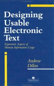 Designing usable electronic text by Andrew Dillon